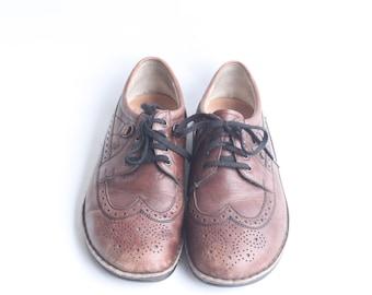 Vintage Finn Comfort Men's German Leather Lace Up Oxford Shoes Size 44