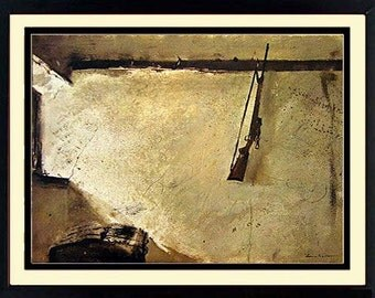 Andrew Wyeth Dog Karl's Room 18x14