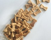 SALE - Mini Peanut Butter & Carrot Dog Bones - All Natural Dog Treats, 4 Dozen - Organic Carrots - Training Treats