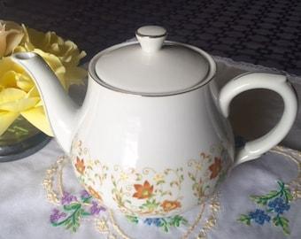 Pretty Floral Porcelain Teapot