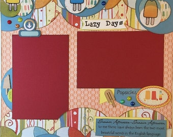 Lazy Days - 12x12 Premade 1 Page Scrapbook Layout