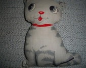 Vintage Fabric Cat Doll Pillow