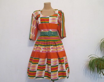 Cotton Dress Vintage / Size EUR46 / UK18