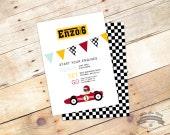 Ferrari Birthday Invite, 5x7 DIY Printable, Birthday Party