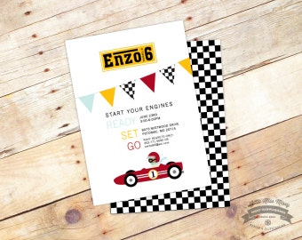 Ferrari Birthday Invite, 5x7 DIY Printable, Birthday Party