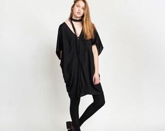 Summer Sale Lotus Dress, Black.