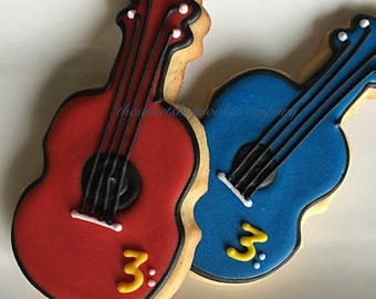 Guitar Cookies 2 dozen