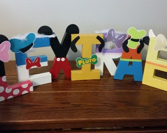 Personalized Mickey Clubhouse Inspired Name