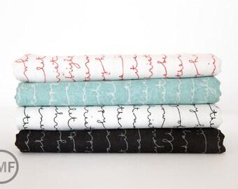 Juniper Berry Happy Holidays Fat Quarter Bundle, 4 Pieces, BasicGrey, 100% Cotton, Moda Fabrics, 30436