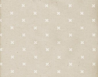 XOXO in Natural, Cotton+Steel Basics, Rashida Coleman Hale, RJR Fabrics, 100% Unbleached Cotton Fabric, 5001-014