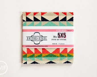 Mesa Five by Fives, Charm Pack, Alexia Abegg, Cotton and Steel, RJR Fabrics, Pre-Cut Fabric Squares, 4999-08