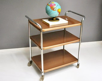 Mid-Century Gold Cosco Cart or Bar Cart
