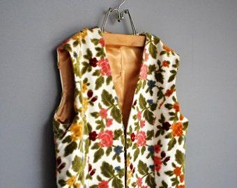 Vintage Floral Jacquard Full Length Vest