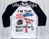 Race | Car | birthday | shirt | Race car | birthday shirt | baseball | raglan style | race car theme birthday tee shirt