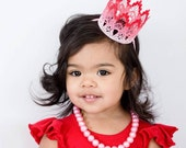 Ready to Ship || Valentine Ombre lace crowns || photography prop || Sienna || cake smash  (all ages)