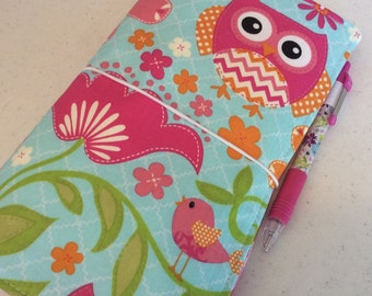 Travelers Notebook - SHADORI - in Owls with Zippered Pocket
