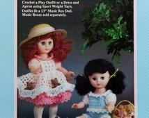 "20%OFF Fibre Fiber Craft PICNIC PALS 13"" Music Box Doll - Crochet Doll Dress Clothes Clothing Pattern"