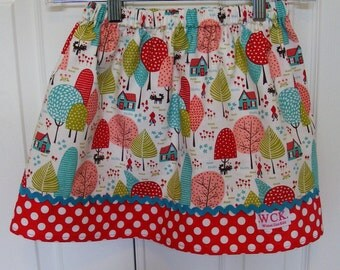Little Red Riding Hood Going to Grandma's Skirt   (18 mos.,  2T, 3T, 4T, 5, 6, 7, 8, 10)