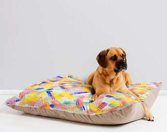 Sparkles colorful decor trendy waterproof pet bed mattress, yellow mint blue pink washable cat dog furniture, warm portable cat dog cushion