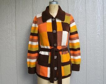 Vintage PUMPKIN PATCH FUN Cardigan Sweater