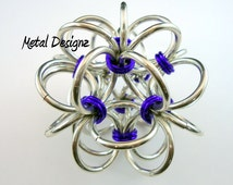 Japanese Ball Chainmail Ornament Kit - Makes 3 balls- Crafty Do it Yourself Kit. maille Chainmaille Jump Rings