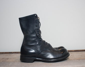 11 D | Vintage Military Combat Boots 1950's Sky Master Jump Boots