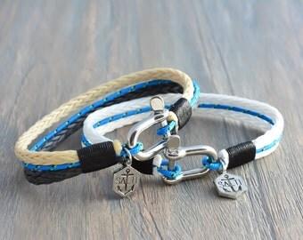 Men's Bracelet SALTI Nautical Bracelet '3rd Wave' (Double DEAL)