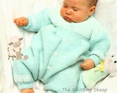 PDF Knitting Pattern for an Baby Onsie or Top To Toe Suit - Instant Download