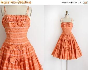 SUMMER SALE vintage 1950s dress // 50s prom dress