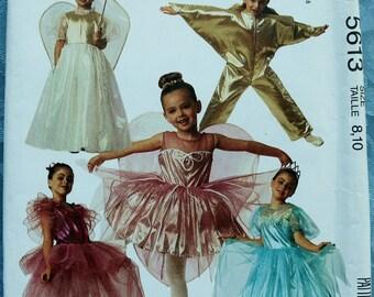 Childs Costume Pattern Fairy Star Princess Ballerina Size 8 10 McCalls 5613 Uncut Vintage 1991