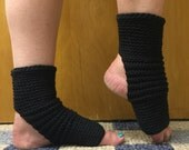 Yoga Socks in Soft Knit in Black -- for Yoga, Dance, Pilates, Pedicures