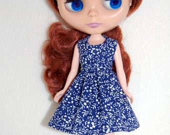 Navy/White Dress for Blythe -  A4B051