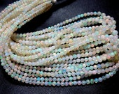 5 Strands 18'' So Gorgeous Beautiful High Quality Ethiopian Opal Smooth Round Ball Beads 3 to 5MM Approx