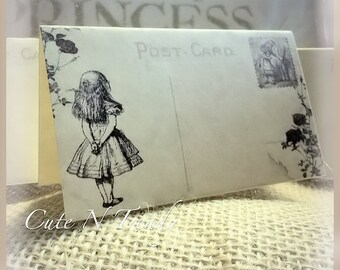 100 Alice in wonderland Name Place Cards- tent place cards-wedding reception