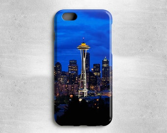 iPhone 6 Case Seattle Phone Case Space Needle - Available for iPhone 5S/5, iPhone 5c, iPhone 4s, iPhone 4, iPhone 3gs, Galaxy S4, Galaxy S5