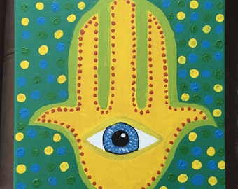 Colorful Hamsa Painting