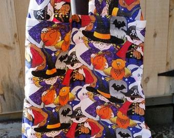 Halloween Treat Bag- Halloween Goodie Bag- Small Halloween Treat Bag- Halloween Tote Bag- Small Halloween Tote Bag- Small Halloween Bag- Bag