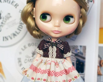 Fairy tale Dress - for Blythe, MocaPinoRu, Mary&Ann - doll outfit - by kreamdoll