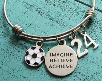 graduation gift soccer gift, for soccer player, soccer team gift, soccer bracelet, occer mom gift, soccer coach gift, love soccer jewelry
