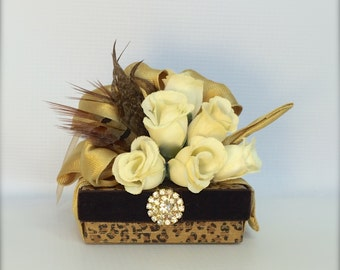 Favor Box Jewelry Gift Box Leopard Brown Gift Box Wedding Favor Box Gift Ideas Birthday Gift Gift Ideas Wedding Party Gifts Prewrapped Boxes