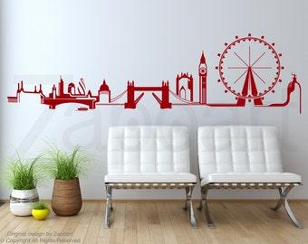 London Skyline Wall Decal Vinyl