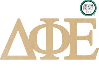 Delta Phi Epsilon Greek Letters Connected - Sorority Letters, Delta Phi Epsilon Letters, Delta Greek Letters, Phi Epsilon Greek Letters