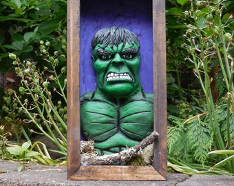 Incredible Hulk  shadow box sculpture