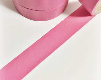 Bubble Gum Pink Solid Colored Pink Pale Pink Light Pink Pastel Pink Washi Tape 5.5 yards 5 meters 15mm