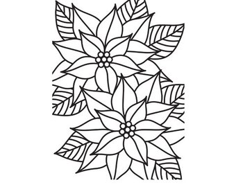 New! MOSAIC POINT (POINSETTIA Flower) Embossing Folder by Darice