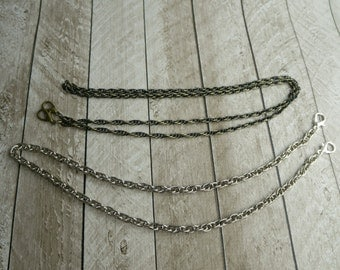 "Purse chain, antique brass chain, silver nickel chain, gold, gunmetal, purse strap, 24"", 36"", 48"", 61cm, 91cm, 122cm, lobster clasp"