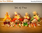 ON SALE 20% OFF Thanksgiving Napkin Rings Fall Napkin Rings Scarecrow Napkin Rings Fall Table Decor Fall Table Centerpiece Thanksgiving Tabl