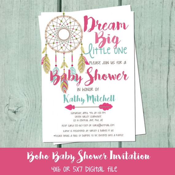 baby shower invitation boho baby shower invitations girl baby