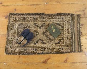 antique rug, vintage rug, tribal rug, geometric rug, art deco rug, area rug, wool rug,handmade circa 1940