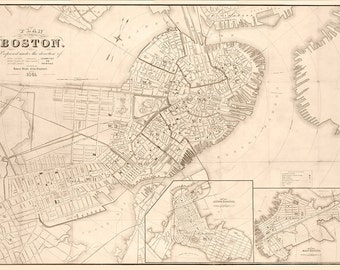 1861 Map of Boston